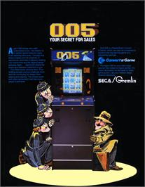 Advert for 005 on the Arcade.