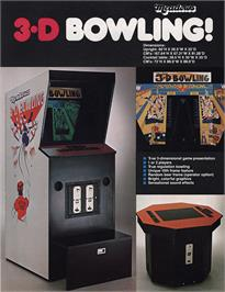 Advert for 3-D Bowling on the Arcade.