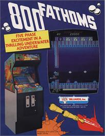 Advert for 800 Fathoms on the Arcade.