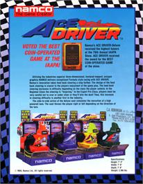 Advert for Ace Driver on the Arcade.