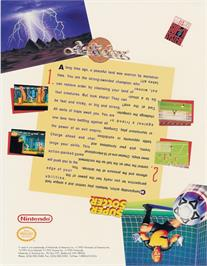 Advert for Act Raiser on the Nintendo Arcade Systems.
