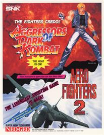 Advert for Aero Fighters 2 / Sonic Wings 2 on the Arcade.