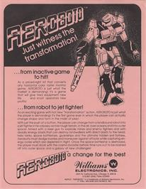 Advert for Aeroboto on the Arcade.