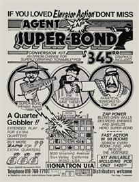 Advert for Agent Super Bond on the Arcade.
