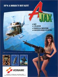 Advert for Ajax on the Arcade.