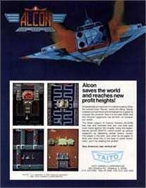Advert for Alcon on the Arcade.