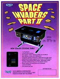 Advert for Alien Invasion Part II on the Arcade.