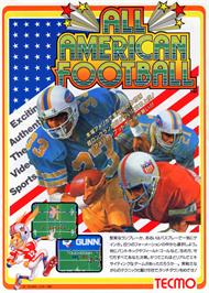 Advert for All American Football on the Arcade.
