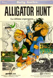 Advert for Alligator Hunt on the Arcade.