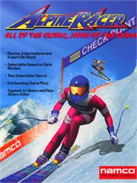 Advert for Alpine Racer on the Arcade.