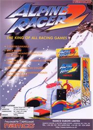 Advert for Alpine Racer 2 on the Arcade.