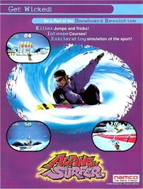 Advert for Alpine Surfer on the Arcade.