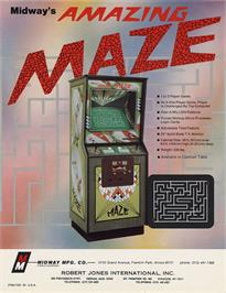 Advert for Amazing Maze on the Arcade.