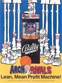 Advert for Arch Rivals on the Arcade.