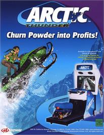 Advert for Arctic Thunder on the Sony Playstation 2.