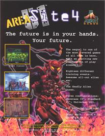 Advert for Area 51: Site 4 on the Arcade.