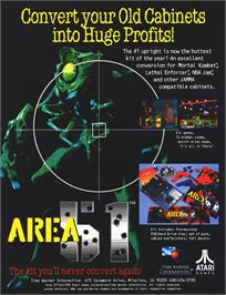 Advert for Area 51 on the Sega Saturn.