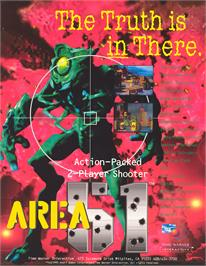 Advert for Area 51 on the Arcade.