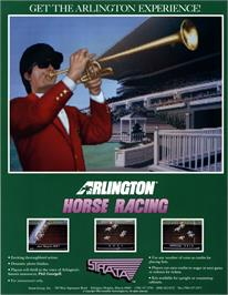 Advert for Arlington Horse Racing on the Arcade.