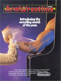 Advert for Arm Wrestling on the Nintendo Arcade Systems.