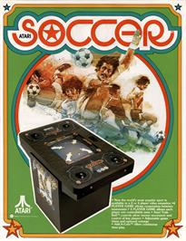 Advert for Atari Soccer on the Arcade.