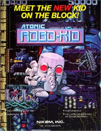 Advert for Atomic Robo-kid on the Arcade.