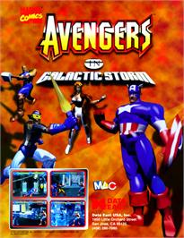 Advert for Avengers In Galactic Storm on the Arcade.