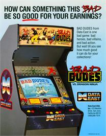 Advert for Bad Dudes vs. Dragonninja on the Arcade.