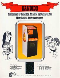 Advert for Bandido on the Arcade.