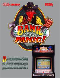 Advert for Bank Panic on the Arcade.