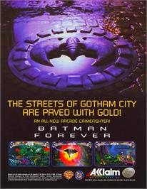 Advert for Batman Forever on the Arcade.