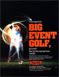 Advert for Big Event Golf on the Arcade.