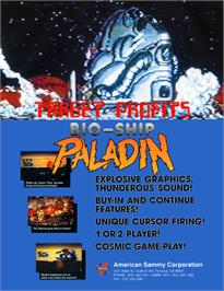 Advert for Bio-ship Paladin on the Arcade.