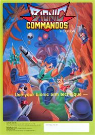 Advert for Bionic Commando on the Arcade.