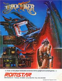 Advert for Black Tiger on the Commodore Amiga.
