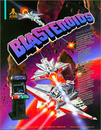 Advert for Blasteroids on the Arcade.