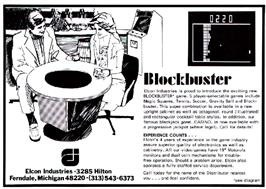 Advert for BlockBuster on the Arcade.
