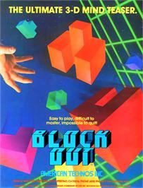 Advert for Block Out on the Arcade.