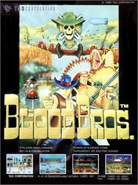Advert for Blood Bros. on the Arcade.