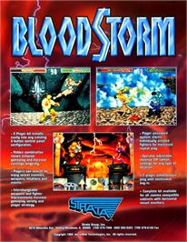Advert for Blood Storm on the Arcade.
