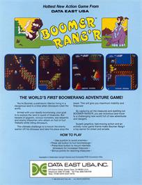 Advert for Boomer Rang'r / Genesis on the Arcade.