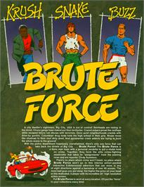 Advert for Brute Force on the Arcade.