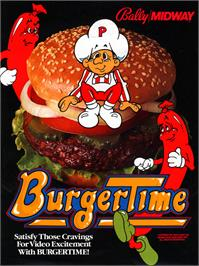 Advert for Burger Time on the Arcade.
