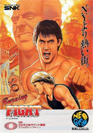 Advert for Burning Fight on the SNK Neo-Geo CD.