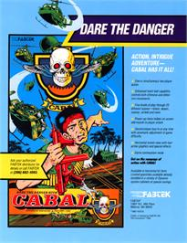 Advert for Cabal on the Commodore Amiga.