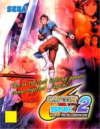 Advert for Capcom Vs. SNK 2 Millionaire Fighting 2001 on the Arcade.