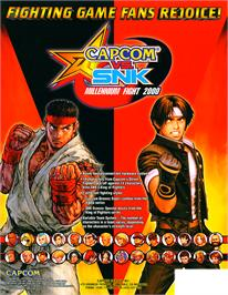 Advert for Capcom Vs. SNK Millennium Fight 2000 on the Arcade.