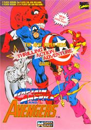 Advert for Captain America and The Avengers on the Arcade.