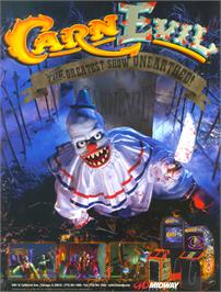 Advert for CarnEvil on the Arcade.
