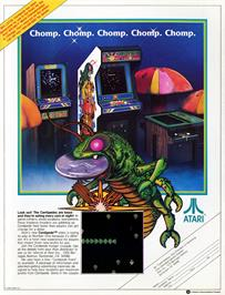 Advert for Centipede on the Arcade.
